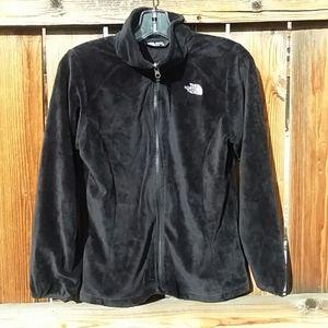 The North Face fuzxy black jacket